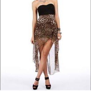 3 for $30 casting strapless leopard print dress